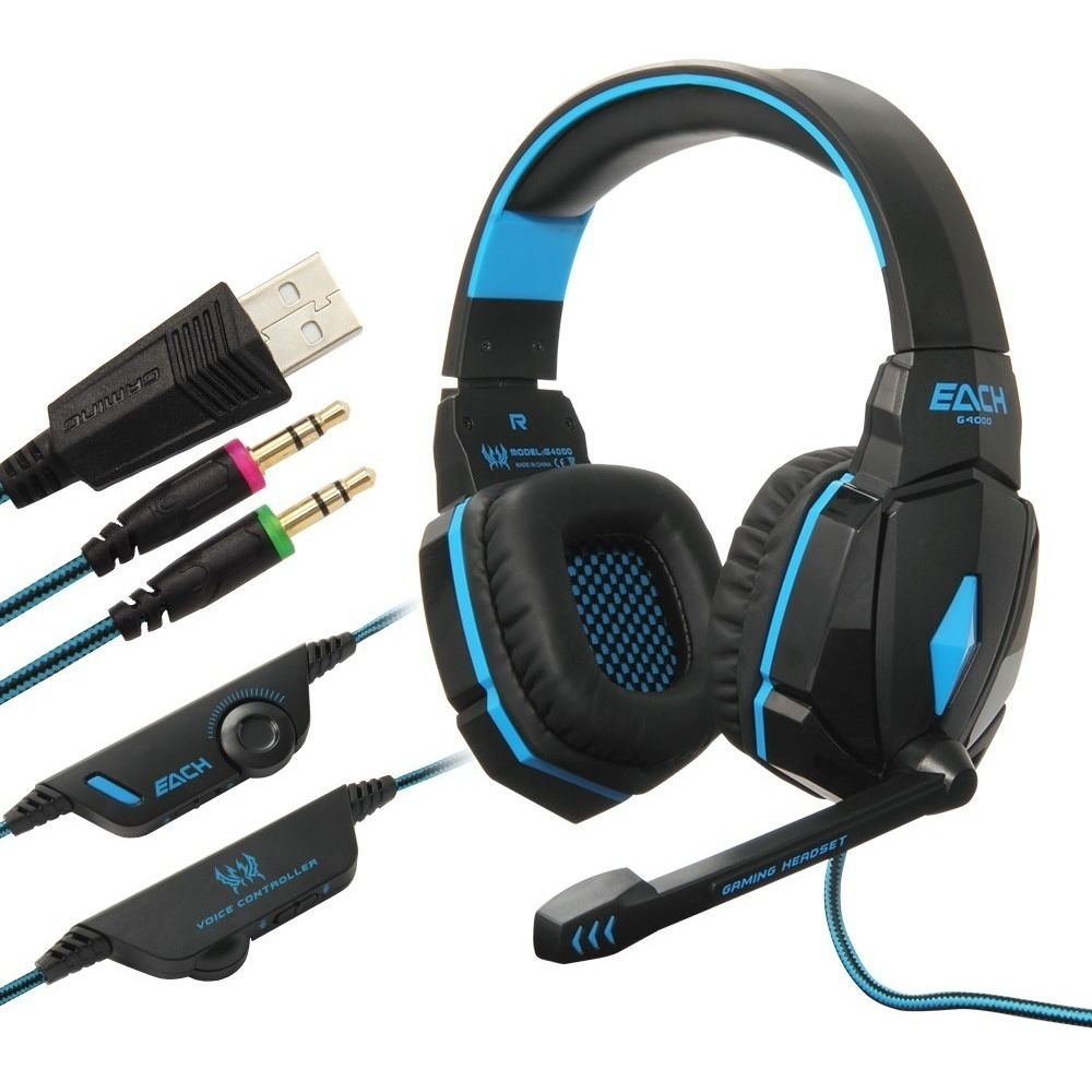 Diadema Gamer Kotion Each G4000 Usb Microfono Led Retroliluminada