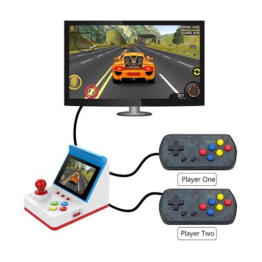 Mini Consola Retro Arcade 360 Juegos Clasicos + 2 Controles