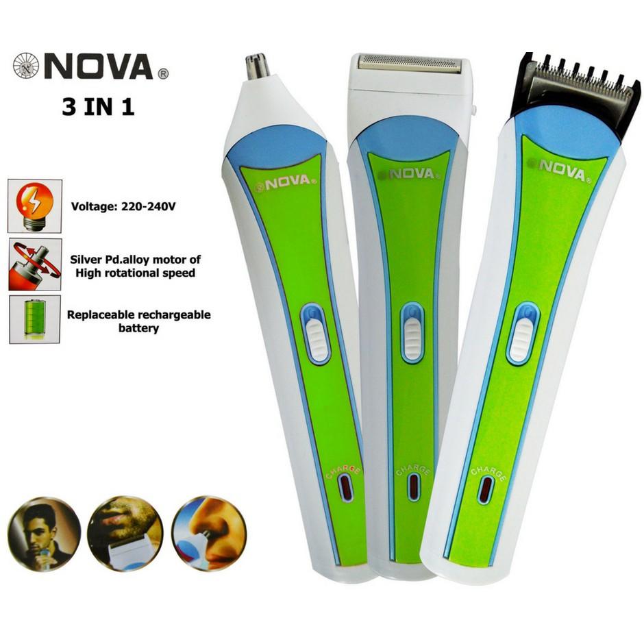Maquina Patillera Afeitadora 3 En 1 Electrica Recargable