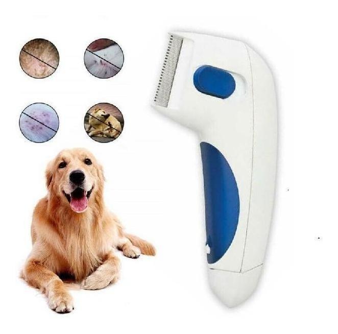 Cepillo Peine Electrico Anti Pulgas Perros Y Gatos