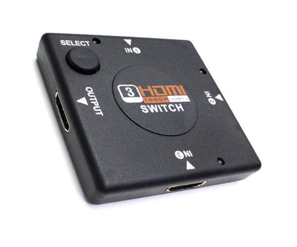 Hdmi Switch Multiplicador Selector 3x1 5 A 1 Full Hd 1080p