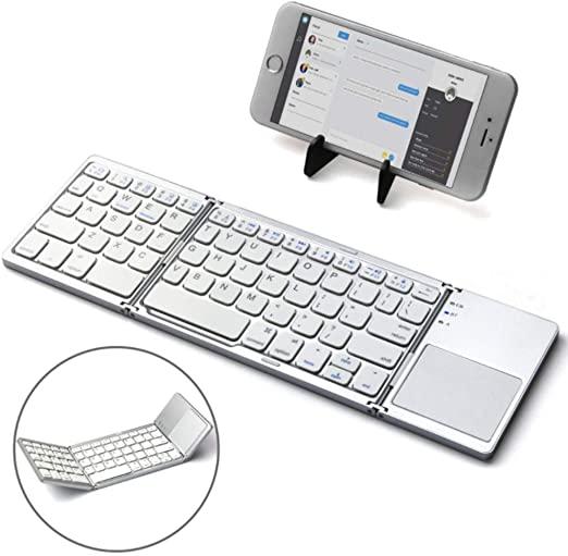 Mini Teclado Bluetooth Plegable Con Touchpad