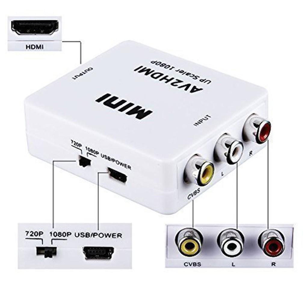 Convertidor Adaptador De Video Hdmi A Rca Audio/video Hd1080