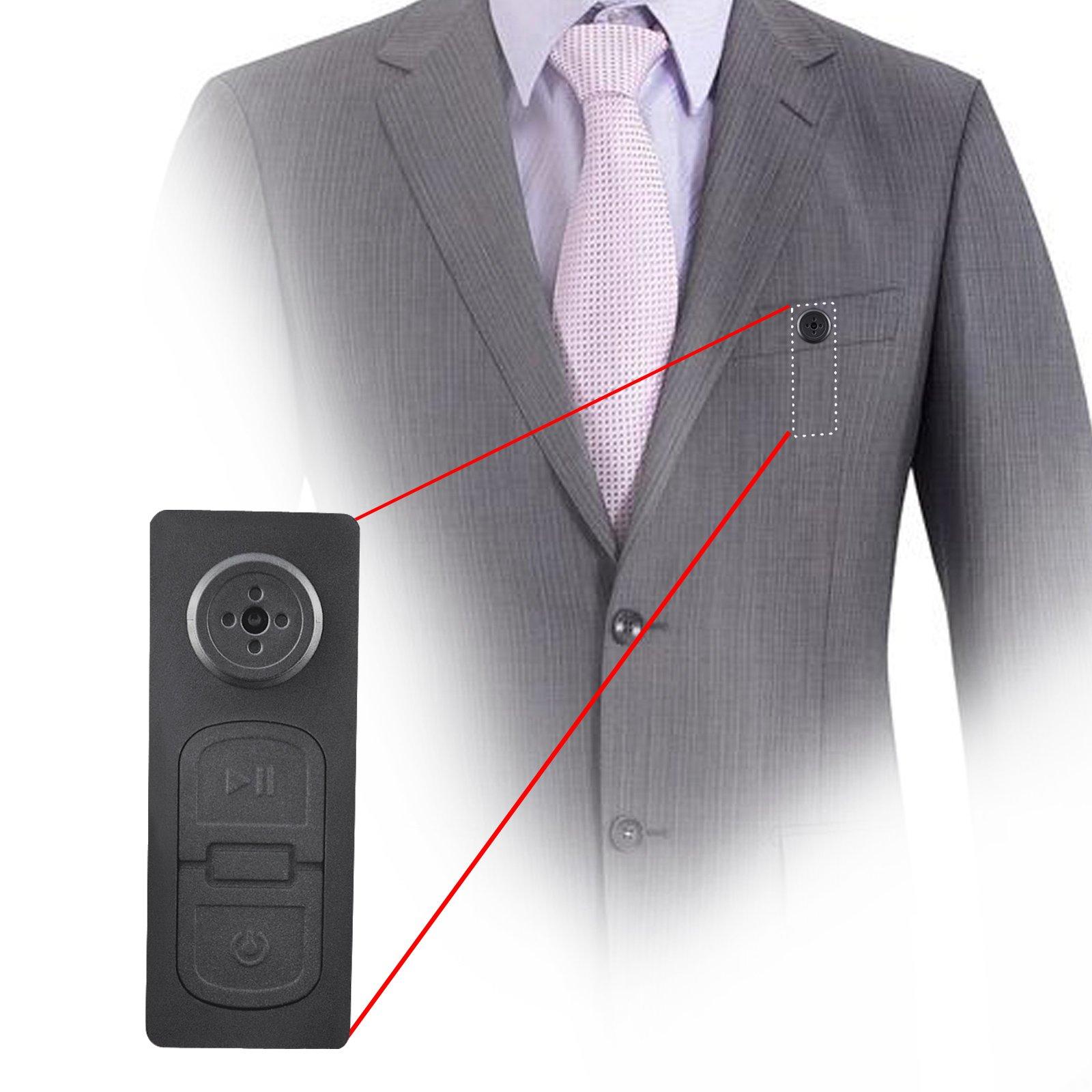 Mini Boton Con Cámara Espía Video Grabadora Con Audio