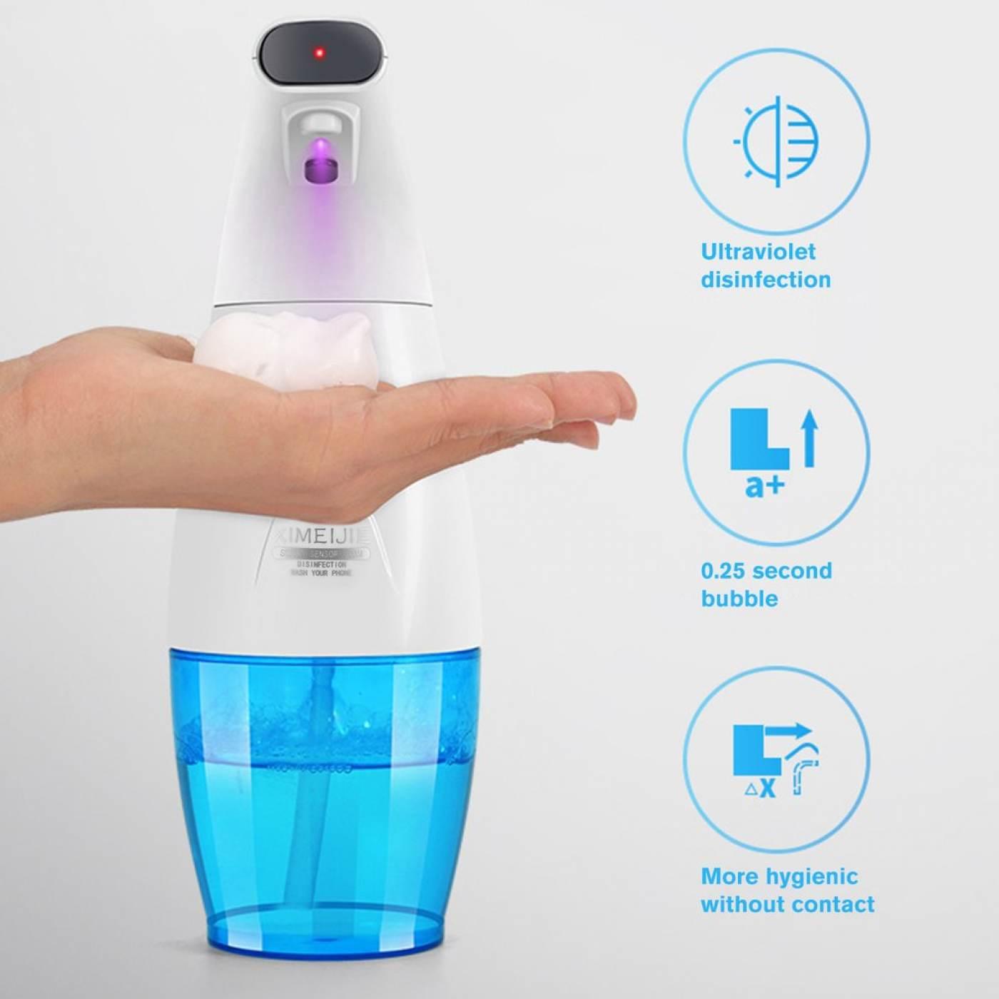 Dispensador Automático De Jabon Liquido Con Desinfección Uv 240ML - 330ML