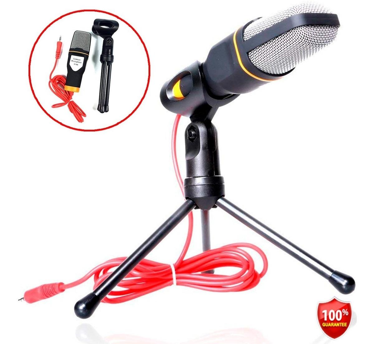Micrófono Condensador +Trípode Para Pc, Laptop, Celular.