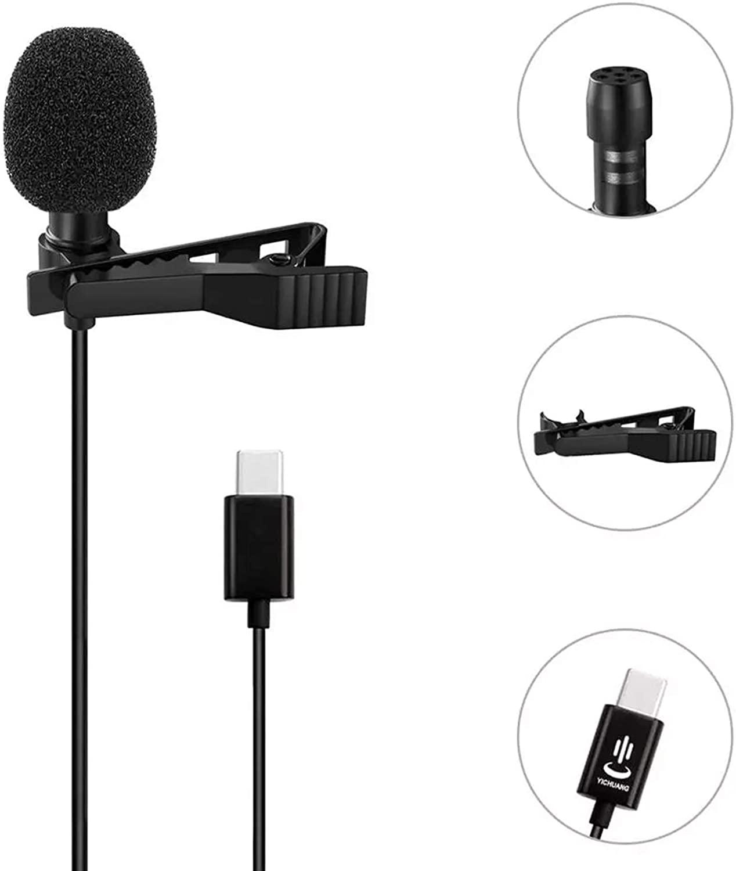 Microfono De Solapa Lavalier Profesional Para Celular Tipo C