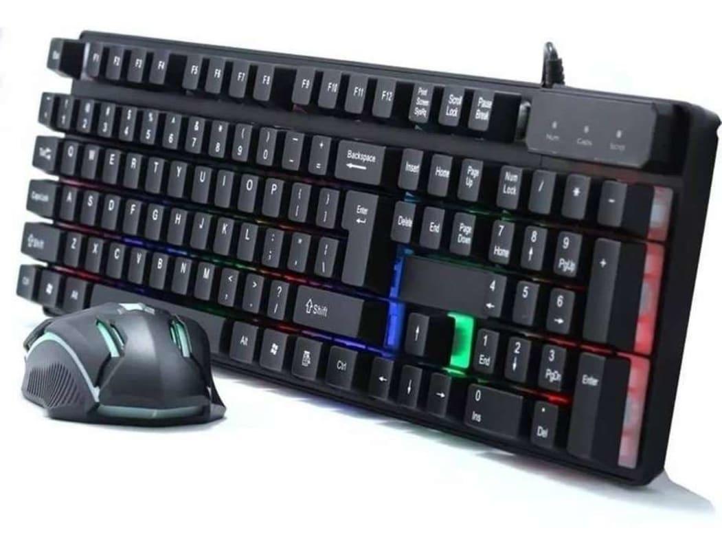 Combo Teclado Y Mouse Gamer Usb RGB